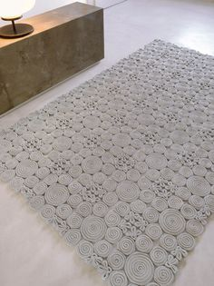 spin rug - paola lenti << oh to own an i-cord machine that I could get to work. Home Carpet, Diy Carpet, Rugs On Carpet, Plush Carpet, Carpet Ideas, Beige Carpet, Patterned Carpet, Green Carpet, Carpet Colors