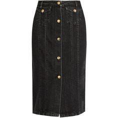 ACNE STUDIOS Women'S Garea Mid-Length Denim Skirt In Grey ...