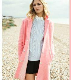 manteau rose femme