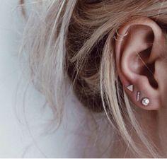 Petites boucles d'oreilles de trois | Mix and Match boucle d'oreille Set | Correspondent pas de boucles d'oreilles | Boucle d'argent | Eco friendly bijoux par WildFawnJewellery sur Etsy https://www.etsy.com/be-fr/listing/260868337/petites-boucles-doreilles-de-trois-mix