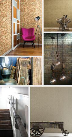 Industrial Revolution with Wallpaper Unique Wallpaper, Industrial Revolution, Modern Rustic, Brick, Inspirational, York, Storage, Furniture, Design