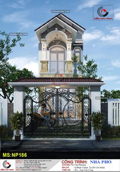 House Design Pictures, Cool House Designs, Wall Design, Home Goods, House Plans, Main Gate, Mansions, Architecture, House Styles