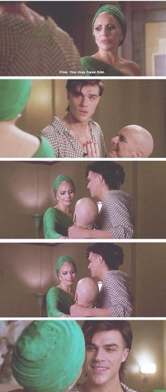 The Countess, Tristan and Liz Taylor. American Horror Story Hotel Season 5 Episode 6