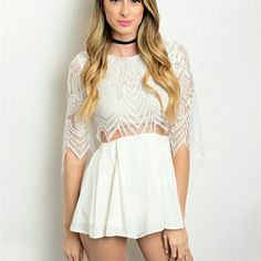 White Lace Backless Romper Available in sizes Small, Medium & Large.  *Model shown wearing the exact product.  Fashion Noir is an online boutique that has the latest in trendy high end fashion for prices you won't find at any other boutique. We sell brands and products found at trending stores such as ASOS, Nasty Gal, Urban Outfitters, Tea N Cup & More Pants Jumpsuits & Rompers