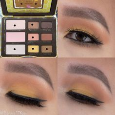 Created this eye look using the @toofaced Peanut Butter and Honey eyeshadow palette. Mixed Queen Bee and Creamed Honey to set @maccosmetics paint pot, Honey Brittle & Peanut Butter in crease, Feelin Nutty in outer corner, Honey Buns all over lid ontop of @nyxcosmetics white jumbo pencil. @beccacosmetics X @jaclynhill Champagne Pop for browbone, inner corner, & face highlight. @houseoflashes Iconic Lite for lashes. @sigmabeauty wicked gel liner. #maccosmetics smolder eye kohl for waterline…