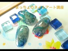 深海 大理石 ニュアンスネイルアート やり方 - YouTube