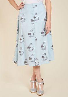 Purr Intentions Midi Skirt | ModCloth