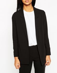 Image 3 of ASOS Slim Tailored Jacket In Crepe