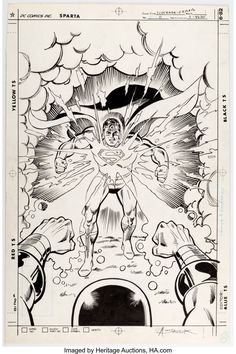 Browse results from Heritage comic art auction on Track and share the art you like, get email notifications for your favorite keyword searches, and more! Sal Buscema, John Buscema, Superman Comic Books, Comic Book Heroes, Original Paintings, Original Art, Superman Family, Detective Comics, Comic Strips