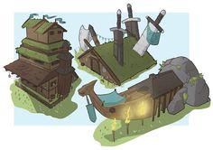 ArtStation - Viking Building Designs, Fitzfactor Design