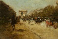 Georges Stein (1818-1890) Arc de Triomphe seen from Avenue Foch