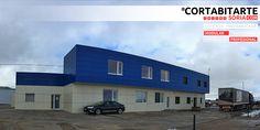 PROYECTOS | #modular #profesional reciente ampliación de nave industrial & fachada ventilada, en #Matalebreras #SORIA · para www.ArtesFritas.com