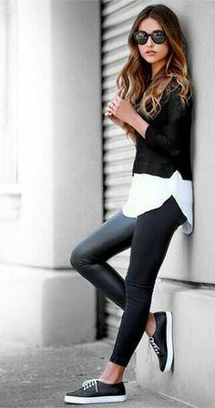 Leder Leggings ♢