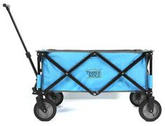 TimberRidge Folding Camping Wagon, Garden Cart, Collapsible, All Terrains, Blue >>> See this awesome image : Gardening for Beginners Garden Wagon, Wheelbarrow Garden, Garden Cart, Cages For Sale, Folding Wagon, Beach Wagon, Mountain Bikes For Sale, Small Greenhouse, Yard Care