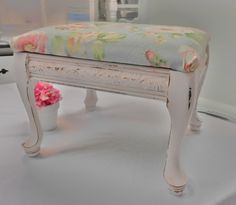 SOLD stool shabby chic furniture by backporchco on Etsy, $46.90