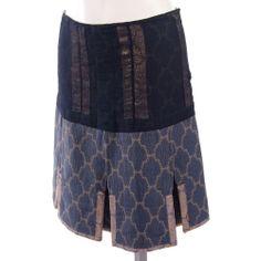 Prada S/S 2002 inside out brocade skirt