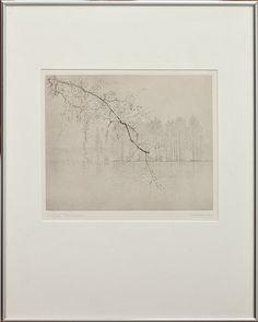 Gunnar Norrman - River Scene, Drypoint