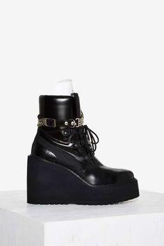 FENTY PUMA by Rihanna Leather Sneaker Boot Wedge