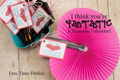 """Fan""tastic Valentine via Free Time Frolics #Valentine #printable #school"