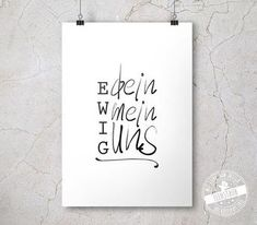 Print Ewig dein Ewig dein ewig mein ewig uns Print The post Print Ewig dein appeared first on Fotowand ideen. Poema Visual, Wedding Prints, Wedding Canvas, Reality Check, Engagement Ring Cuts, Great Memories, Hand Lettering, Wedding Day, Wedding Tips