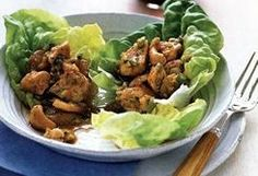 Coconut Oil Chicken or Tofu Lettuce Wraps