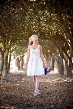 Annabelle Knee Length Wedding Dress by TheLittleWhiteDress on Etsy