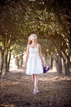 Annabelle Knee Length Wedding Dress by TheLittleWhiteDress on Etsy