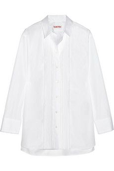 See by Chloé Embroidered cotton-poplin shirt | £302.55 JPY 52,323 Approx (Please note you will still be charged in GBP)