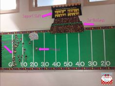 bulletin board showing amount of children signed up for reading program-great… Sports Theme Classroom, School Classroom, School Leadership, School Counseling, Reading Counts, Ar Reading, Reading Incentives, Attendance Incentives, Data Boards