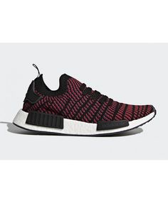 finest selection 98f8c 5ccaa Adidas NMD R1 Primeknit STLT Red Black White Trainers Cheap UK Adidas Nmd R1  Pink,