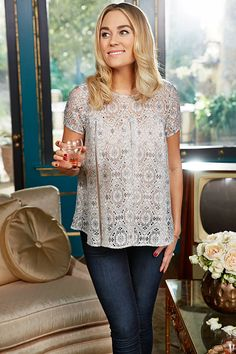 New Lace Boxy top and High Rise Jeggings from Kohl's