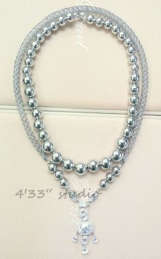 """Item no.: GSN013-RH  CLASP WITH C.Z. STONE COLOR: SILVER (WITH RHODIUM PLATING  925 SILEVR BALL NECKLACE (WITH RHODIUM PLATING) SIZE: 18""""  C.Z. CLASP +925 SILVER CYBER TUBE NECKLACE (WITH RHODIUM PLATING) SIZE: 22"""""""