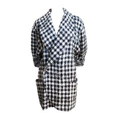 EMANUEL UNGARO PARALLELE houndstooth mohair jacket | From a collection of rare vintage jackets at http://www.1stdibs.com/clothing/jackets/
