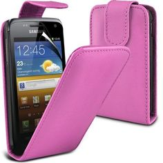 Buy Samsung Galaxy W i8150 Leather Flip Case Cover (Baby pink) Plus Free Gift, Screen Protector and a Stylus Pen, Order Now Best Valued Phone Case on Amazon! By FinestPhoneCases NEW for 10.99 USD | Reusell
