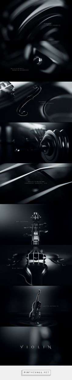 VIOLIN - Title Sequence on Behance - created via https://pinthemall.net