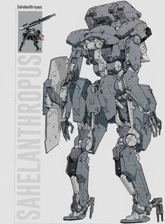 "steamedtofu: "" Metal Gear Solid V: The Phantom Pain Official Guide: Sahelanthropus. Character Concept, Character Art, Raiden Metal Gear, Mecha Suit, Arte Robot, Gear Art, Gundam Art, Robot Concept Art, Robot Design"