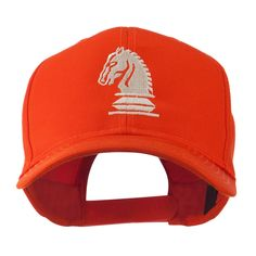 Chess Piece of a Knight Embroidered Cap - Orange