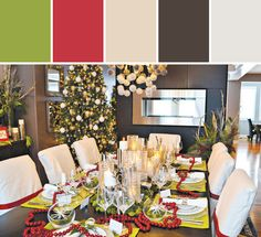 Michelle & Brenda's Modern Christmas Designed By Canadian Home Trends Magazine via Stylyze #colorpalettesilove