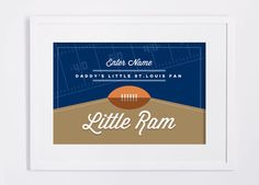 St. Louis Rams Print. Custom NFL Children's Room or Nursery DIY Custom Design Print