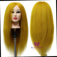 """42.21$  Watch here - http://alirqt.worldwells.pw/go.php?t=32659641342 - """"23"""""""" 100% Real Hair Training Doll Head Cosmetology Mannequin Heads For Beauty Salon Academy Professional Hair Styling Head B15"""" 42.21$"""