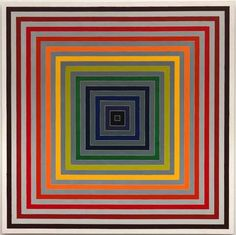 Frank Stella / Lettre sur les aveugles II / 1974 / Synthetic polymer paint on canvas