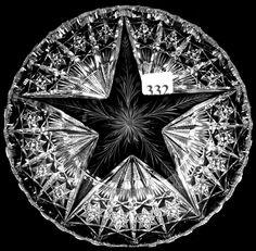 "Tuthill, Daisy & Cosmos Star, American brilliant cut glass, 7"", 14-5h."