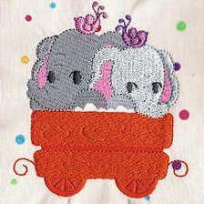 Noahs Train - Free Instant Machine Embroidery Designs