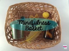 mindfulness basket for mindfulness in speech therapy