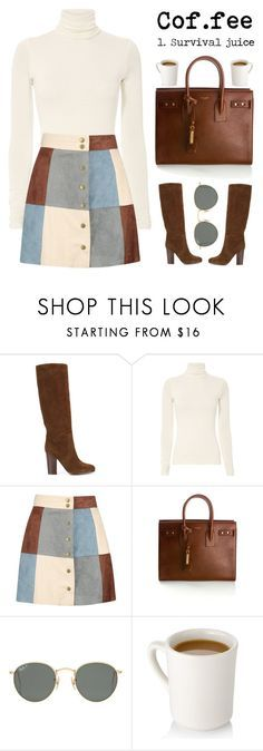 """October 22, 2017"" by madelynn-gv ❤ liked on Polyvore featuring Ralph Lauren, Boohoo, Yves Saint Laurent and Ray-Ban"