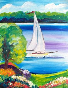 Paint Along -- the new socialising with creative twist Entertainment Ideas, Paint Party, Sailboat, Corporate Events, Creative, Fun, Painting, Sailing Boat, Corporate Events Decor