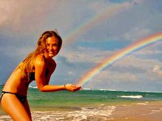 rainbow ~ forced perspective idea - this would be so fun to try!