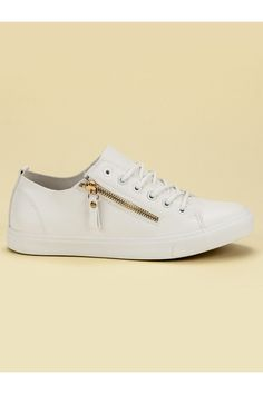 Biele tenisky so zipsom CnB Slip On, Sneakers, Shoes, Fashion, Tennis, Moda, Slippers, Zapatos, Shoes Outlet