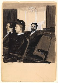 Ibsen (At the Theater), Edward Hopper, circa 1900