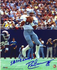 "Autographed Drew Pearson Dallas Cowboys 16x20 Photo Inscribed """"SB XII Champs"""""